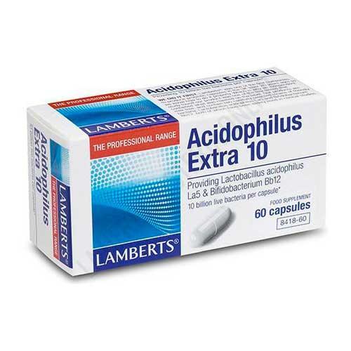 Acidophilus Extra 10 Lamberts 60 cápsulas -