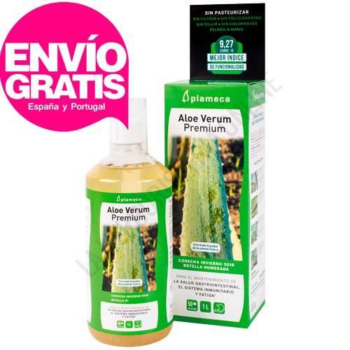 Aloe Verum Premium con su  pulpa, sin pasteurizar y de cultivo ecológico Plameca 1 litro