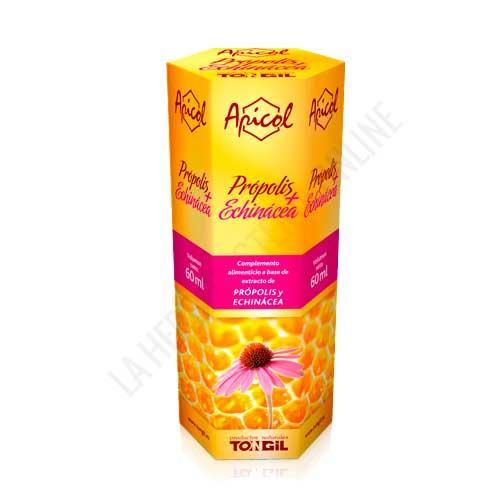 OFERTA - Apicol extracto de Própolis + Echinácea Tongil 60 ml. - ¡Protégete del frío! Apicol Propolis + Echinácea de Tongil es una fórmula concentrada para ayudar a tus defensas. En gotas, para una acción más directa.