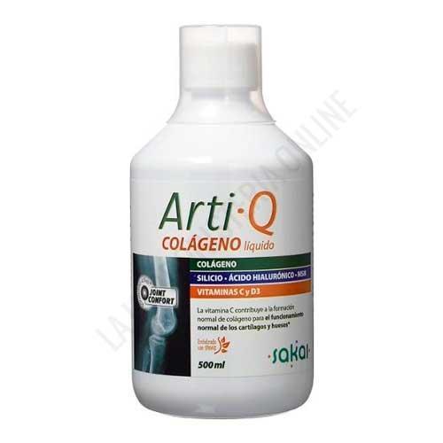 Artiq Colágeno líquido, Ácido Hialurónico, MSM, Silicio y Vitaminas Sakai 500 ml.
