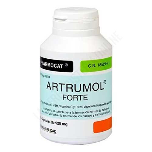 Artrumol Forte (Cartílago de Tiburón, Harpagofito, Bambú, MSM, Vitamina C) Fharmocat 180 cápsulas -