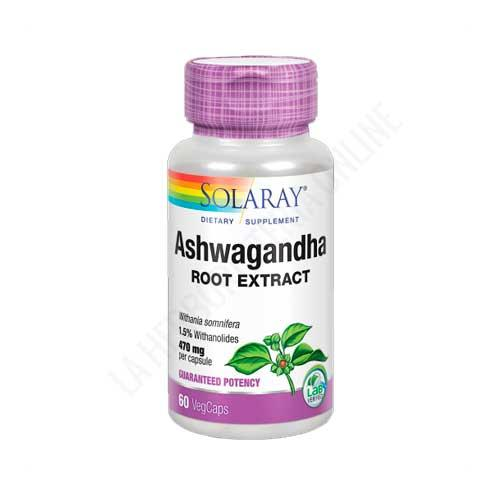 Ashwaganda Solaray 470 mg. 60 cápsulas