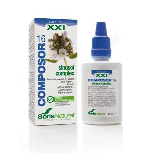 Composor 16 Sinusol Complex XXI congestión nasal Soria Natural 25 ml.
