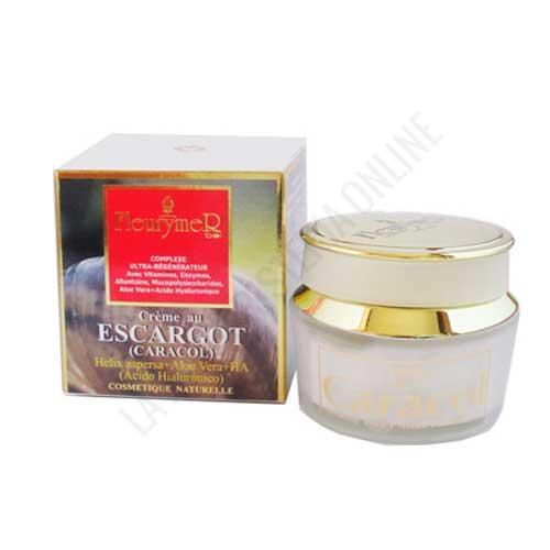 Crema facial ultra Regeneradora baba de Caracol, Ácido Hialurónico y Aloe Fleurymer 50 ml.