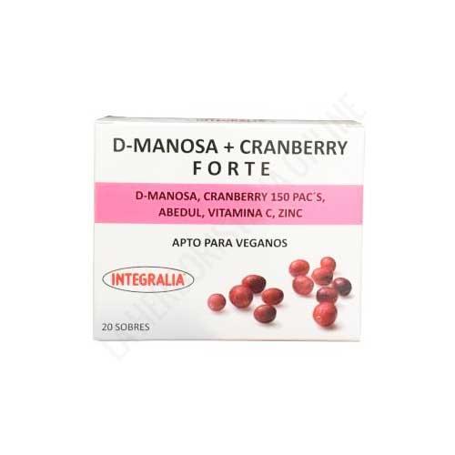 D-manosa + Cranberry Forte Integralia 20 sobres