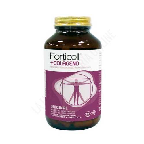 OFERTA-Forticoll Colágeno Bioactivo, Ácido Hialurónico, Vitaminas y Minerales Almond 180 comprimidos