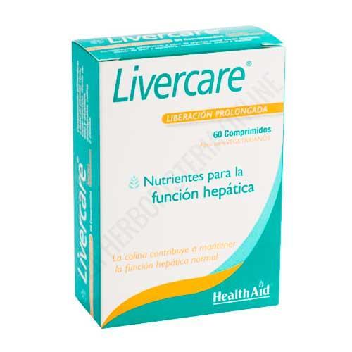 Livercare Health Aid 60 comprimidos - NUEVA FÓRMULA MEJORADA - Livercare de Health Aid es una formulación única a base de hierbas y aminoácidos que contribuye a la limpieza y desintoxicación del hígado y resulta adecuado tanto para hombres como para mujeres.