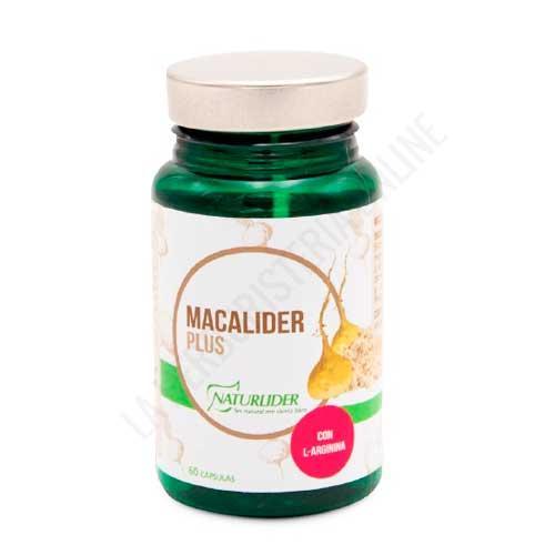 OFERTA Macalíder Plus Maca Andina estandarizada Naturlíder 60 cápsulas - Macalider de Naturlider es una formulación a base de Maca estandarizada al 0,05% de Macamidas y 50 mg. de L-Arginina, especialmente útil para ayudar a incrementar la líbido y la fertilidad.