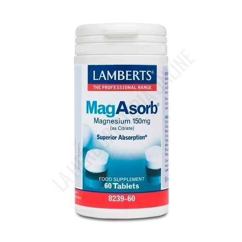 OFERTA MagAbsorb Citrato de Magnesio Superior Absorción Lamberts 60 comprimidos - MagAbsorb Citrato de Magnesio de Lamberts proporciona magnesio de alta biodisponibilidad (absorción superior). Envase para 1 mes de tratamiento (tomando 2 comprimidos al día).