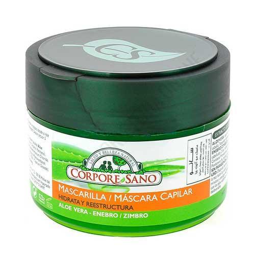 OFERTA DEL MES - Mascarilla Capilar hidratante y reestructurante Corpore Sano 250 ml. - 26% DTO. OFERTA DEL MES. Con Aloe Vera y Enebro.