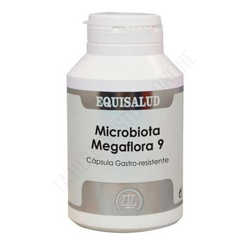 Microbiota Megaflora 9 Equisalud 180 cápsulas - Megaflora 9 de Equisalud es una mezcla multiespecie de probióticos y prebióticos altamente eficaz y patentada, presentada en cápsulas gastro-resistentes y diseñada para el mantenimiento del equilibrio de la flora intestinal. ENVASE AHORRO DE 180 CÁPSULAS, para 60 días de toma.