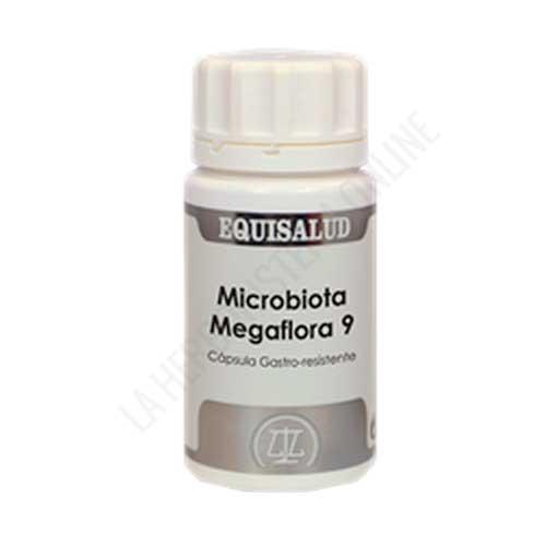 Microbiota Megaflora 9 Equisalud 60 cápsulas - Megaflora 9 de Equisalud es una mezcla multiespecie de probióticos y prebióticos altamente eficaz y patentada, presentada en cápsulas gastro-resistentes y diseñada para el mantenimiento del equilibrio de la flora intestinal.