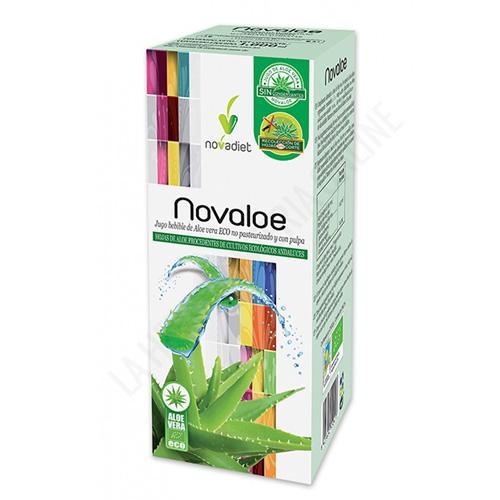 OFERTA Novaloe Jugo Aloe Vera ECO, no pasteurizado y con su pulpa Novadiet 1 litro