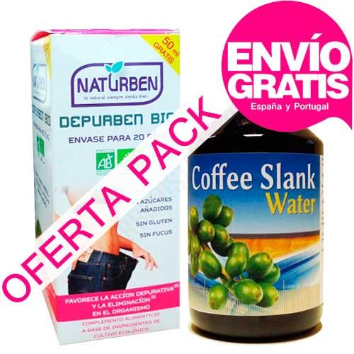 OFERTA PACK Depurativo con Café Verde: 1 Depurben BIO 300 ml. + 1 Coffee Slank Water 500 ml.