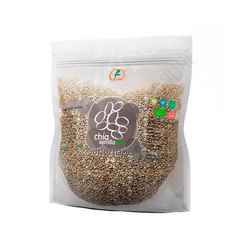 Semillas de Chia Ecologicas enteras Superfoods Energy Fruits 1 Kg.