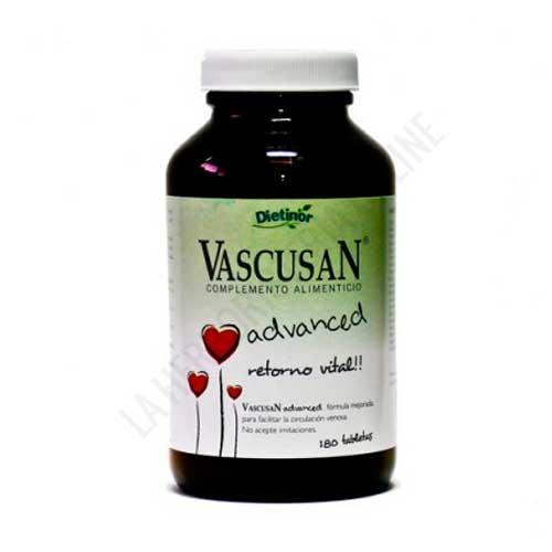 Vascusan Advanced Circulación y Varices Dietinor 180 comprimidos - Vascusan Advanced de Dietinor es una fórmula mejorada que contribuye a la correcta circulación venosa.