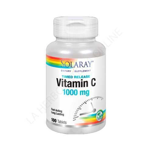 Vitamina C 1000 mg. 2 etapas Solaray 100 comprimidos