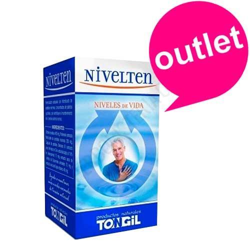 OUTLET Nivelten Tongil 40 cápsulas - OUTLET - Unidades limitadas. Disponible Nivelten de Tongil, composición exclusiva a base de ingredientes naturales patentados que resulta idónea para ayudar a mantener unos niveles normales de tensión arterial. Destaca en su composición Benolea® (extracto seco de hojas de olivo estandarizado al 16% en oleuropeina) y Protensin (extracto hidrolizado de péptidos marinos concentrado y purificado). Contenido en perfecto estado, fecha de caducidad Febrero de 2019. Motivo Outlet: Últimas unidades en stock.