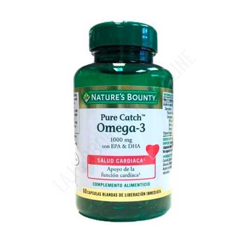 Pure Catch® Omega 3 Aceite de Pescado 1000 mg. Natures Bounty 60 cápsulas