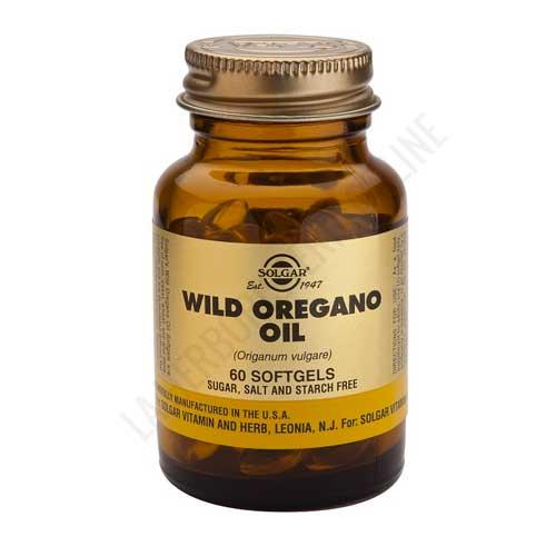 Aceite de orégano silvestre Wild Oregano Oil Solgar 60 perlas -
