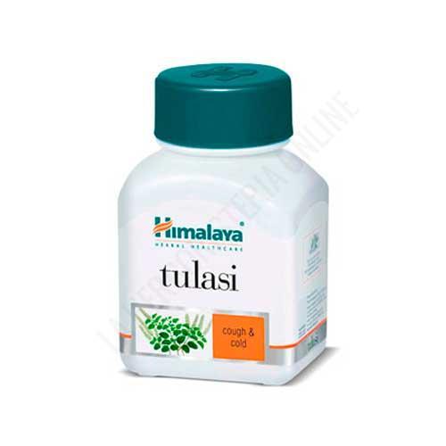 Tulasi Holy Basil Himalaya Herbals 60 cápsulas - Tulasi (albahaca santa) es una planta sagrada del hinduismo que se utiliza en la tradición ayurvédica para apoyar la salud respiratoria, por sus cualidades antiinflamatorias y antialérgicas.