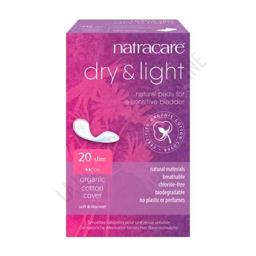 Compresas Dry+Light incontinencia Natracare 20 uds.