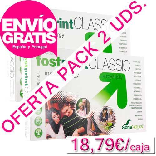 OFERTA 2 uds. Fostprint Classic con jalea real Soria Natural 20 viales