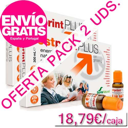 OFERTA PACK 2 uds. Fostprint Plus con ginseng Soria Natural 20 viales