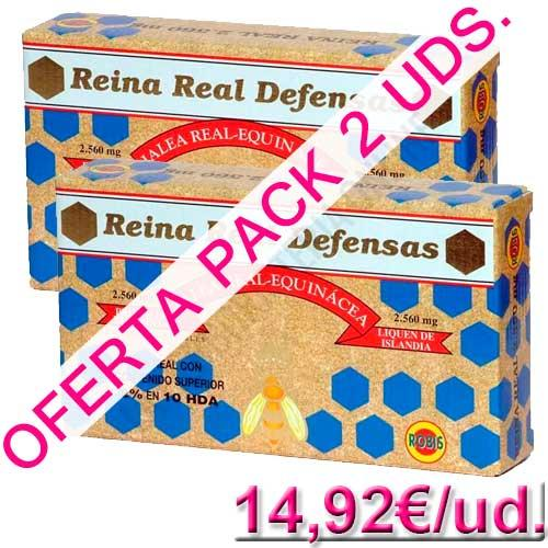 OFERTA  Pack 2 uds. Reina Real Defensas Jalea Real Robis 20 ampollas