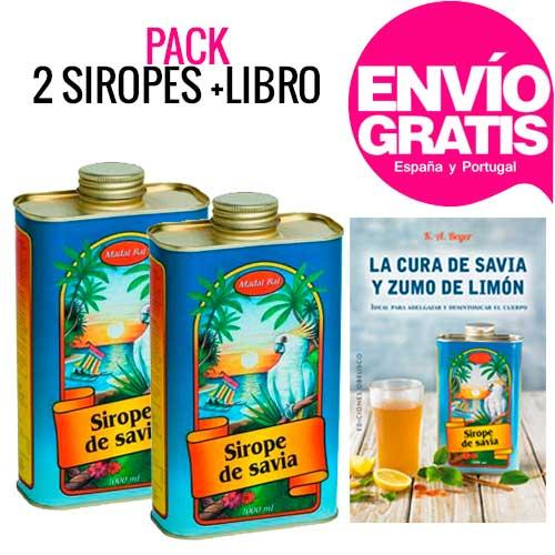 OFERTA PACK 2 Sirope de Savia Madal Bal 1 litro + LIBRO
