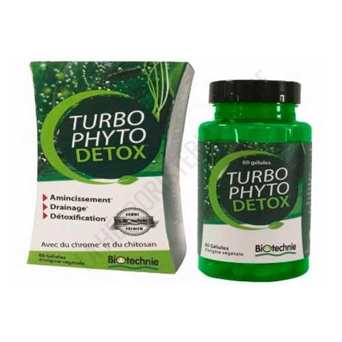 Turbo Phyto Detox drenante quemador Biover 60 cápsulas -