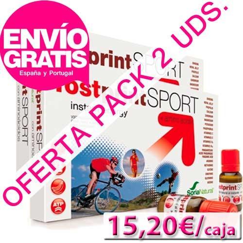 OFERTA DEL MES CON ENVIO GRATIS - Pack 2 uds. Fostprint Sport Soria Natural total 40 viales