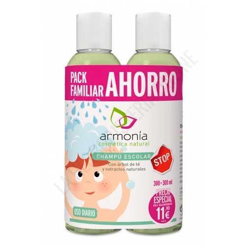 OFERTA PACK 2 uds. Champú Escolar prevención piojos Armonía 300 ml. + 300 ml.
