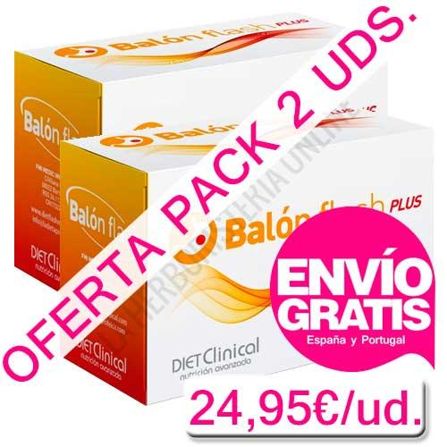 OFERTA PACK 2 uds. Balón Flash Plus con H2O Slim y Fabenol Max triple efecto Diet Clinical 30 sobres