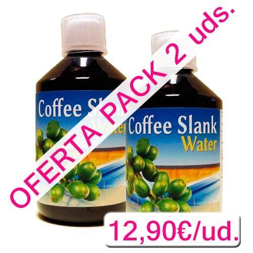 OFERTA PACK 2 uds. Coffee Slank Water café verde líquido Espadiet 500 ml.