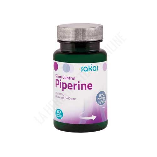 Piperine Sline Control extracto de Pimienta negra titulado al 95% Sakai 60 cápsulas vegetales
