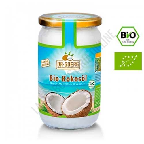 Aceite de Coco virgen Bio prensado en frío Dr. Goerg 1000 ml. - El Aceite de Coco del Dr. Goerg es 100% natural, prensado en frío y de cultivo biológico controlado. Contiene un 59,42% de ácido láurico y mantiene la frescura del primer prensado en frío.