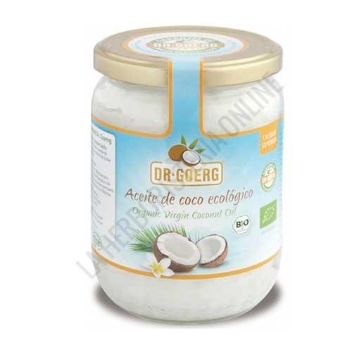 Aceite de Coco virgen Premium Bio prensado en frío Dr. Goerg 500 ml. - El Aceite de Coco del Dr. Goerg es 100% natural, prensado en frío y de cultivo biológico controlado. Contiene un 59,42% de ácido láurico y mantiene la frescura del primer prensado en frío, con la garantía de Dr. Goerg: Productos de Coco Bio de alta calidad.