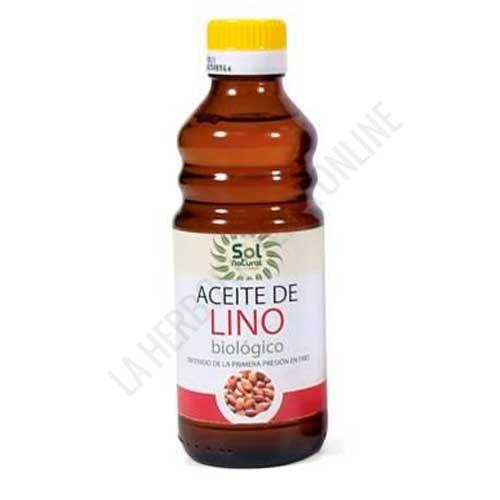 Aceite de Lino BIO 1ª presión Solnatural 250 ml.