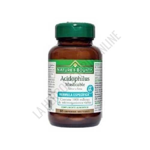 Acidophilus sabor fresa Natures Bounty 60 comprimidos masticables