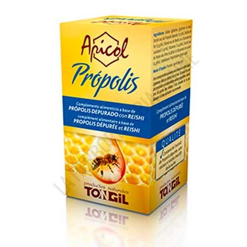 Apicol Própolis Tongil 40 perlas - Apicol Propolis de Tongil contiene extracto de propolis depurado, libre de resinas y restos de la colmena. Estas perlas combinan las propiedades del Própolis y el Reishi.
