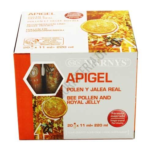 Apigel Polen y Jalea Real Marnys 20 viales - Apigel de Marnys es un complemento a base de Polen y Jalea Real en una potente formulación ideal como revitalizante y precursora del apetito.