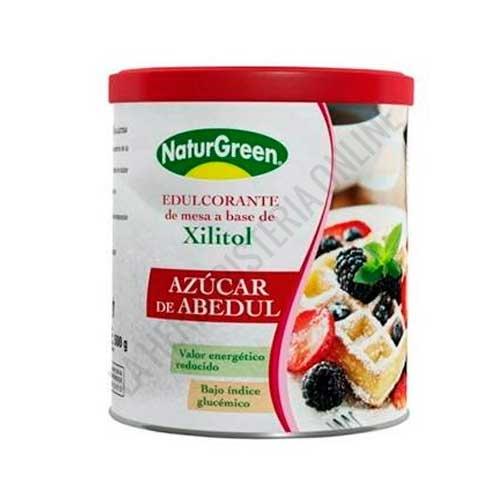 Azucar de Abedul Xilitol Naturgreen 500 gr. - El Azúcar de Abedul de Naturgreen es un edulcorante de mesa a base de Xilitol de bajo índice glucémico que aporta un sabor y grado de dulzor similar al del azúcar común pero con un 40% menos de calorías.