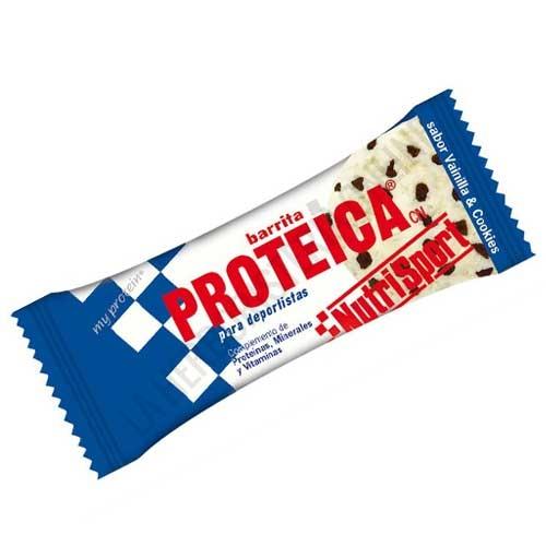 Barrita Proteica Nutrisport sabor vainilla cookies 46 gr. -