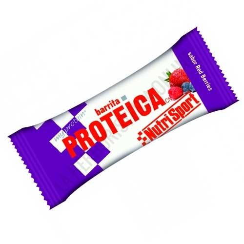 Barrita Proteica Nutrisport sabor red berries 46 gr. -