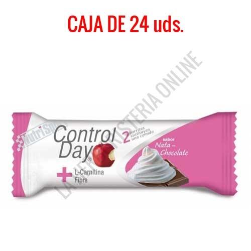 Barritas sustitutivas ControlDay NutriSport sabor chocolate & nata caja de 24 uds.