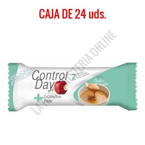 Barritas sustitutivas ControlDay NutriSport sabor dulce de leche caja de 24 uds.
