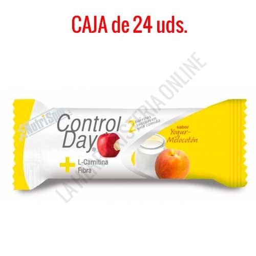 Barritas sustitutivas ControlDay NutriSport sabor yogur melocotón caja de 24 uds.