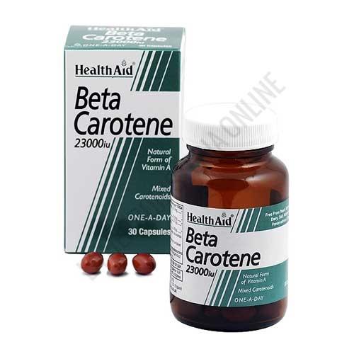 OUTLET Betacaroteno natural Health Aid 30 cápsulas