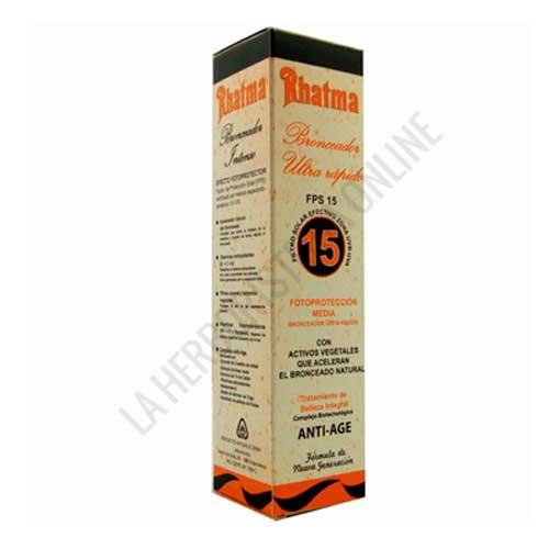 Bronceador Ultra rápido corporal Anti-Age Rhatma FPS15 200 ml.